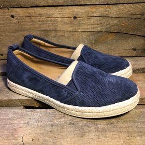NEW Clarks Womens Azella Major Navy Slip On Shoes